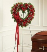 Red Mixed Standing Open Heart Funeral