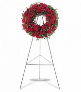 Red Regards Wreath HF7203