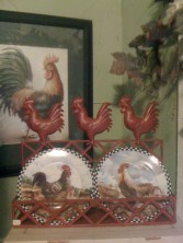 Red Rooster Plate Rack Plates sold separately