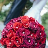 Red Rose Bouquet Wedding Bouquet