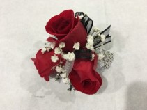 Red rose classic corsage