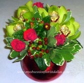 Red Roses and Green Orchids Fresh floral in Dallas, TX | MY OBSESSION FLOWERS & GIFTS