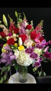 Red Roses and Orchids Bouquet