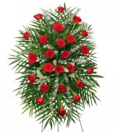 RED ROSES STANDING SPRAY of Funeral Flowers in Edison, NJ | E&E FLOWERS AND GIFTS