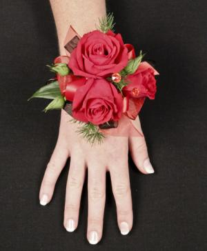 PUTTING ON THE RITZ RED Prom Corsage in Riverside, CA | Willow Branch Florist of Riverside