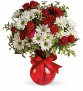 Red, White & True Floral Bouquet