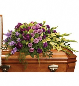 Reflections of Gratitude Casket Spray in Eau Claire, WI | 4 SEASONS FLORIST INC.