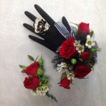 Richly Red Boutonniere
