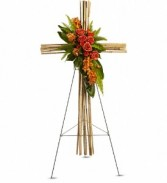 River Crane Cross Funeral Design