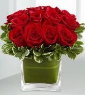 Romance Red Rose Valentines vase in Ottawa, ON | MILLE FIORE FLORAL