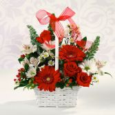 ROMANTIC BASKET in Edison, NJ | E&E FLOWERS AND GIFTS
