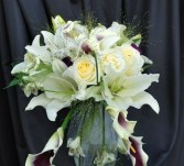 Rose and Lily Bouquet Wedding Bouquet