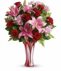 Rose and Lily Swirl Bouquet