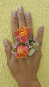 Rose Bud Prom Ring Corsage