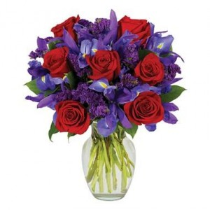 Roses Are Red Iris Are Purple  in Fort Wayne, IN | THE FLOWER SHOP