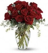 R 8-Roses arranged in a tight tall vase Also available in other colors