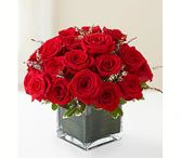 Roses in Square vase Same Day Rose Delivery  in Washington, DC | CONVENTION FLORAL