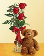 Roses with Bear