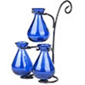 Royal Blue Mini Teardrop Vases with Stand Gift in Florence, OR | FLOWERS BY BOBBI