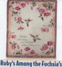Ruby's Among the Fuchsia's Sympathy Tapestry