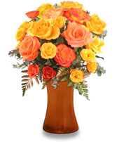 Robust Roses and Spray Roses Arrangement