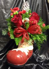 Santa Boot Christmas in Katy, TX | KD'S FLORIST & GIFTS