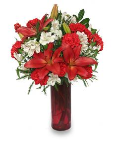 SEASON'S GREETINGS Holiday Arrangement in Shreveport, LA | FLOWERS AND COUNTRY