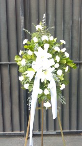 SENTIMENTS OF SERENITY SPRAY FUNERAL FLOWERS