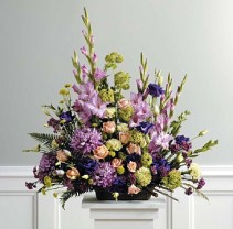 SF39-21 Purple, Peach, and Green Traditional Arrangement