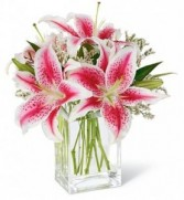 sha10 pink lily bouquet