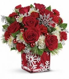 Silver Christmas Bouquet  in Presque Isle, ME | COOK FLORIST, INC.