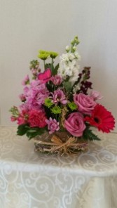 Small Natural Garden Basket Mothers Day