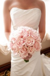 Soft Pink Roses Bridal Bouquet