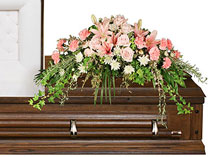 SOFTLY AT REST -  Standard  Casket Arrangement