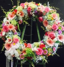 Spring Blossoms tribute wreath