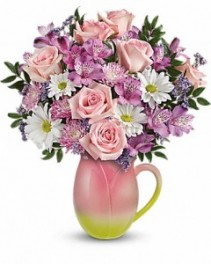 Spring Tulip Pitcher Teleflora - Two Gifts in ONE!