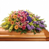 Springtime Colors Casket Spray