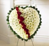 Standing White Heart Sympathy Heart