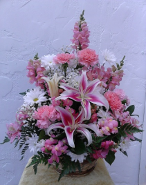 Pink Lily Delight Basket