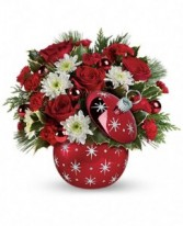 Stary Night Ornament Bouquet Holiday Flowers