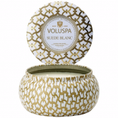 SUEDE BLANC 2-wick Candle Tin By Voluspa