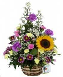 Summers Meadow Basket Arrangement