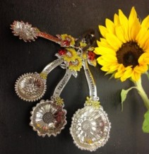 SUNFLOWER MEASURING SPOONS 4 piece set
