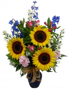 Sunny Sun Flower  Vase Arrangement