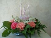 SWEET 16 Arrangement with Keepsake Cake Topper in East Hampton, CT | ESPECIALLY FOR YOU