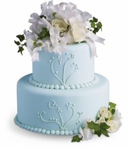Sweet Pea and Roses Cake Decoration H1852A
