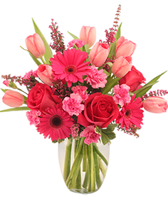 Sweet Pink Mystique Arrangement in Fairfield, NJ | CITYSIDE FLOWERS