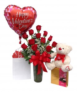 Sweetheart Spectacular  Package with Bear in Seguin, TX | DIETZ FLOWER SHOP & TUXEDO RENTAL