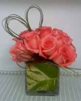PRECIOUS LOVE Cube Arrangement in Edison, NJ | E&E FLOWERS AND GIFTS