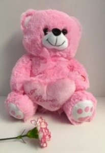 Pink Teddy Bear Kisses and Love You Message... in Reno, NV | Flower Bell